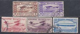 Egypte N° 150 / 54 O Congrès International D'aviation Au Caire, Les 5 Valeurs Oblitérées, TB - Egypt