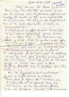 Lettre Manuscrite 1978 Simone Pierre Toret Villaz - Manuscrits
