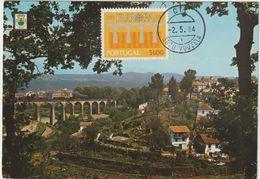 Carte Maximum PORTUGAL N°Yvert 1609 (EUROPA - PONT) Obl Sp 1984 (Vouzela) - Cartoline Maximum