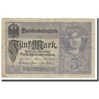 Billet, Allemagne, 5 Mark, 1917, 1917-08-01, KM:56b, TTB - [ 2] 1871-1918 : Impero Tedesco