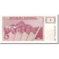 Billet, Slovénie, 5 (Tolarjev), 1990, UNdated (1990), KM:3a, NEUF - Slowenien