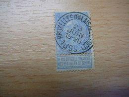 (10.07) BELGIE 1893 Nr 60 Met Mooie Afstempeling BRUXELLES - 1893-1900 Schmaler Bart