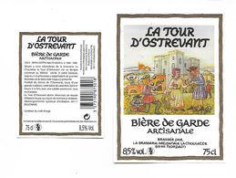 ETIQUETTE BIERE BRASSERIE LA CHOULETTE - HORDAIN /  AVEC CONTRE ETIQUETTE - Bière