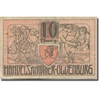 Billet, Allemagne, Oldenburg, 10 Pfennig, Blason 1918-12-01, TB Mehl:O19.5a - Duitsland