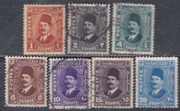 Egypte N° 172 / 78 O Roi Fouad 1er, La Série Des 7 Valeurs Oblitérées, TB - Egypt