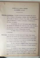 RAPORT Sur La MINE De WOLFRAM Des MONTMINS (Allier) 1917 - Documents Historiques