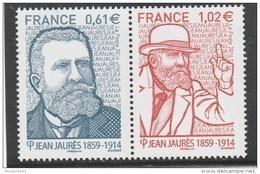 FRANCE 2014 DYPTIQUE JEAN JAURES  NEUF** MNH YT 4869 + 4870  - - Unused Stamps