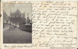 Mons - Eglise Sainte Waudru -  1904 - Carte Précurseur - Edition Louis Boland - Mons