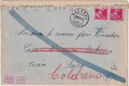 BELGIQUE 1943 LETTRE CENSUREE - Cartas