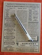 Programmes Des Concerts Et Conférences Du 13 Au 20/11/1943 - Supplément à L'Illustration : Inclus Ventes à Drouot - Zeitungen