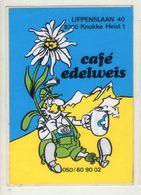 AUTOCOLLANT .  STICKER . KNOKKE . HEIST . CAFE EDELWEIS . LIPPENSLAAN 40 - Stickers