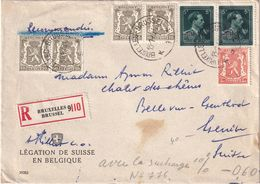 BELGIQUE  1948 LETTRE RECOMMANDEE DE BRUXELLES AVEC CACHET ARRIVEE - Belgium