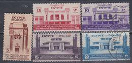 Egypte N° 179 / 83 X,O Roi 15è Exposition Agricole Et Industrielle, Les 5 Valeurs Oblitérées Ou Trace Charnière, TB - Egypt