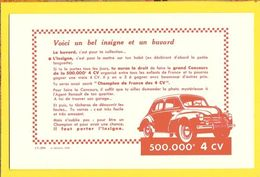 BUVARD : Champion De France Des 4CV Renault - Transports