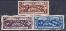 Egypte N° 184 / 86  X,Signature Du Traité Anglo-égyptien, Les 3 Valeurs Trace Charnière, TB - Egypt