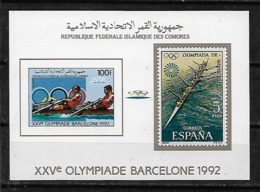 &BAR116& COMORES MICHEL BL 256B MNH**. SPORT, OLYMPIC GAMES BARCELONA 92, ROWING. - Comores (1975-...)
