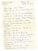 Lettre Manuscrite 1979 Saint Georges Papa Maman Famille Brotteaux Saintes Royan Bergeronnette Paris Villaz - Manuscrits