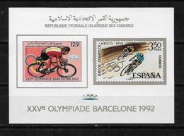 &BAR116B& COMORES MICHEL BL 257B MNH**. SPORT, OLYMPIC GAMES BARCELONA 92, CYCLING. - Comores (1975-...)