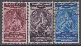 Egypte N° 196 / 98 O Conférence De Montreux Les 3 Valeurs Oblitérées, TB - Egypt