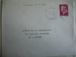 Lot De 2 Clermont A Ales  Cachet Ambulant Convoyeur Poste Ferroviaire - Postmark Collection (Covers)