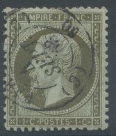 Lot N°56910   N°19, Oblit Cachet à Date De PARIS 60 (C), Ind 18, Cachet 1502 - 1862 Napoléon III