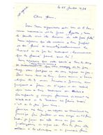 Lettre Manuscrite 1978 Bayonne Malakoff Esbly Baleares Sardaigne - Manuscrits