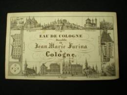 COLOGNE - JEAN MARIE FARINA - EAU DE COLOGNE DOUBLE - BUSINESS CARD/ CARTE DE VISITE 12.5 X 7.5 - Köln