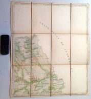 Situation ©1869 Ancienne CARTE D ETAT MAJOR 68/4 Entoilée ATTERT NOTHOMB PARETTE SCHOCKVILLE GRENDEL POST RODENHOFF S880 - Attert