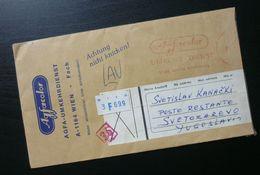 Yugoslavia Cover Sent From Vienna Austria To Svetozarevo/Jagodina Serbia B4 - Lettres & Documents
