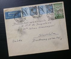 Yugoslavia 1947 Cover Sent From Belgrade Serbia To Stockholm Sweden B6 - Lettres & Documents