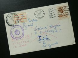 Yugoslavia 1965 Cover Sent From Zagreb Croatia To Tuzla Bosnia And Herzegovina B7 - Lettres & Documents