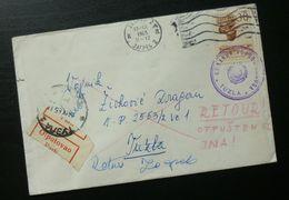 Yugoslavia 1965 Cover Sent From Zagreb Croatia To Tuzla Bosnia And Herzegovina B8 - Lettres & Documents