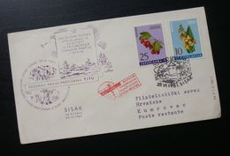 Yugoslavia 1961 Cover Sent From Sisak To Kumrovec Croatia B9 - Lettres & Documents
