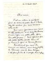 Lettre Manuscrite 1978 Aube Toret Levavasseur Georges Enveloppes Villaz Timbre Saint Lo Pringy Crosne - Manuscrits