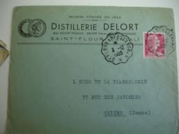 Saint Flour A Neussargues  Cachet Ambulant Convoyeur Poste Ferroviaire - Posta Ferroviaria