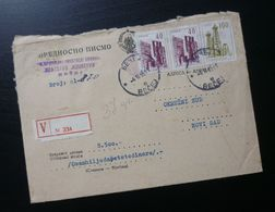 Yugoslavia 1965 Cover Sent From Becej To Novi Sad Serbia B10 - Lettres & Documents