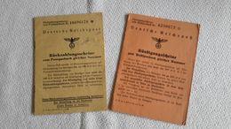 2 Heftchen Deutsche Reichspost Rückzahlungsscheine Kündigungsscheine Wien 1 Planko PostSparbuch - 1939-45