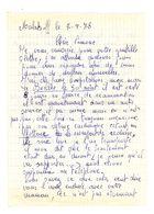 Lettre Manuscrite 1978 Malakoff Simone Toret Beclere Enveloppes Timbre Marianne Villaz Pringy Haut De Seine - Manuscrits