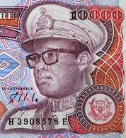 Zaïre -10000 Zaïres Du 24/11/1989 MOBUTU Justice Paix Travail - Justice Peace Work Banknote - Zaïre