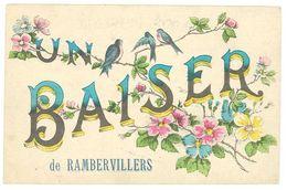 Cpa Un Baiser De Rambervillers ( Fleurs, Oiseaux ) - Rambervillers