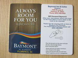 Baymont Inn& Suites, Florence, By Wyndham - Hotelsleutels (kaarten)