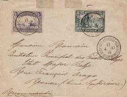 Nr 145 En 146 Op Brief St Adresse Poste Belge 1915 Naar Rouen - Esercito Belga