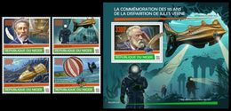 NIGER 2020 - Jules Verne, 4v + S/S Official Issue [NIG200123] - Fairy Tales, Popular Stories & Legends