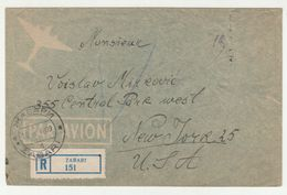 Yugoslavia, Letter Cover Registered Posted 1948 Žabari To New York B200701 - Lettres & Documents