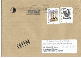 Enveloppe Avec Affranchissement Lettre Prioritaire 20g Albert Decaris Et Son Coq Et Le Chateau De Vincennes - Otros