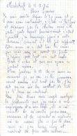 Lettre Manuscrite 1976 Simone Toret Malakoff Rebrir - Manuscrits