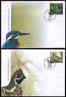 2020 Latvia, Birds, Grouse, Kingfisher, 2 FDC's - Oiseaux