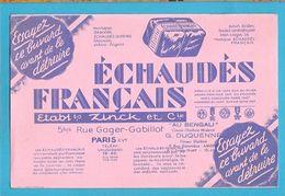 BUVARD :ECHAUDES FRANCAIS  Biscuits  Anciens - Süssigkeiten & Kuchen