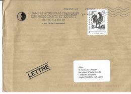 Enveloppe Avec Timbre Albert Decaris Et Son Coq - Otros