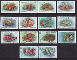 St Kitts 1984 Set Of Definitive Stamps Celebrating Marine Life. - St.Kitts Y Nevis ( 1983-...)